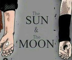 Sun and moon. Aka Naruto and Sasuke Kakashi E Sakura, Naruto E Sasuke, Naruto Team 7, Naruto Gaiden, Anime Naruto, Boruto, Shikamaru, Naruto Tattoo, Narusasu