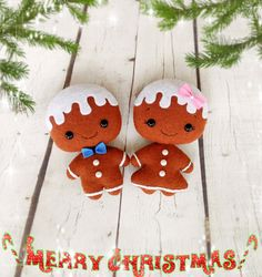 Christmas Ornaments Gingerbread Decor Christmas Gift For Baby Gingerbread Man Felt New Year Decor Christmas Tree Decorations Holiday Decor