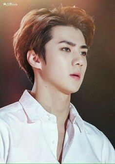 Sehun I just want you know that you are blessed to be this pretty