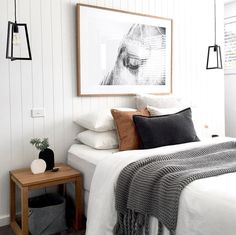 Cool 50 modern farmhouse bedroom decor ideas will make you beautiful in 2019 . - 2019 decoration - Cool 50 modern farmhouse bedroom decor ideas will make you beautiful in 2019 … - Scandinavian Bedroom Decor, Home Decor Bedroom, Living Room Decor, Budget Bedroom, Diy Bedroom, Bedroom Furniture, Master Bedrooms, Luxury Bedrooms, Spare Bedroom Ideas
