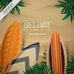 Colorful surfboards background