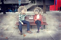 The Diving Bell: A Thinking Cap Constructed from Recycled Cardboard   Junkculture