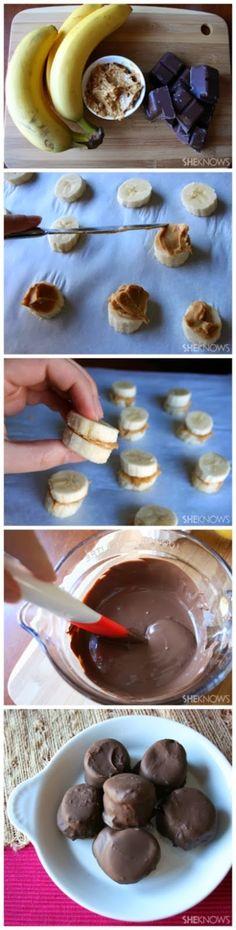 Frozen banana bites..making these for my next spartacus or netflix marathon!