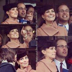 """The Duke and Duchess of Cambridge at the races for the Cheltenham gold cup, the royal couple reportedly cheered for a race horse called ""Monbeg dude"" which is owned by rugby, Mike Tindall, husband of Zara Phillips, first cousin of Prince William and Prince Harry, 15 March 2013 Kate 5 months pregnant to Prince George    1"