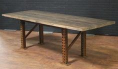Edison Distressed Darkwood Dining Table | Town & Country Event Rentals