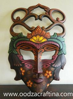 Fabulous painted wooden mask