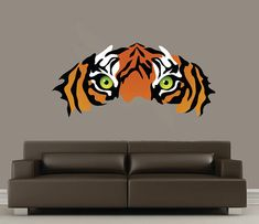 Extra Large TIGER Fabric Wall Decal by StudioWallDecals on Etsy, $65.00