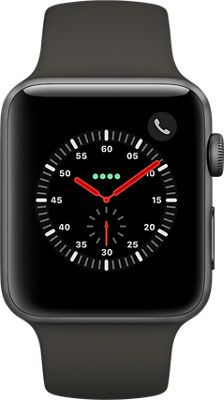 Apple WATCH Series 3 42mm Aluminum Case - Gray/Black Sport Band