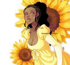 22 ideas skin drawing anime characters for 2019 Black Girl Cartoon, Black Girl Art, Black Women Art, Art Girl, Black Girls, Manga Anime, Me Anime, Anime Girls, Anime Art