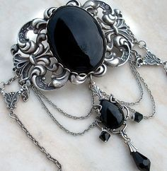 goth jewelry | Black Gothic Jewelry Set Victorian Gothic Choker and by Aranwen