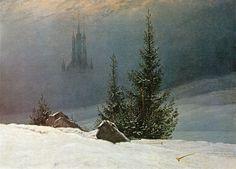 Caspar David Friedrich Poster - Winter Landscape With Church