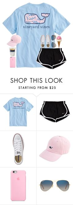 """""""edsftg"""" by julesamber ❤ liked on Polyvore featuring Vineyard Vines, Converse and Ray-Ban"""