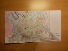 HTTYD Toothless and Hiccup pensil drawing