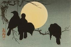 art-and-fury:  Crows and the Moon - Korin Ogata