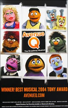 Avenue Q the Musical Poster