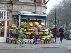 Typical Flower Stall in South Kensington, London. (So many shops, so little time!)