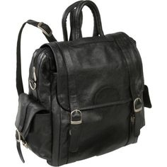 AmeriLeather Leather Three Way Backpack (Black) Amerileather. $56.99. Save 47% Off!