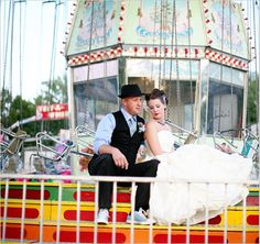 Inspiration for Boardwalk and Arcade themed weddings...great picture possibilities!