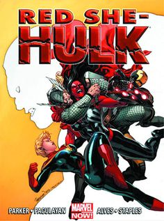 Red She-Hulk vs. Red She-Hulk is considered a national threat for her super-human-smashing agenda. But what shocking discovery does Machine Man make about the future of super-humans? Marvel Now, Marvel Fan Art, Hulk Marvel, Marvel Dc Comics, Captain Marvel, Comic Book Covers, Comic Books Art, Book Art, Red She Hulk