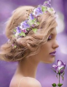 Medieval Hairstyles, Scenery Photography, Pink Leaves, Pink Sunset, Shoe Art, Pantone Color, Spring Colors, Light Purple, Flower Crown