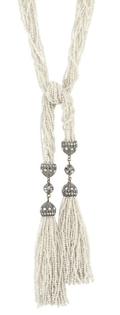 Antique Thirteen Strand Seed Pearl, Silver and Split Pearl Sautoir for Sale at Auction on Wed, - - Important Estate Jewelry Tassel Jewelry, Gems Jewelry, I Love Jewelry, Pearl Jewelry, Tassel Necklace, Jewelery, Jewelry Making, Necklaces, Bracelets