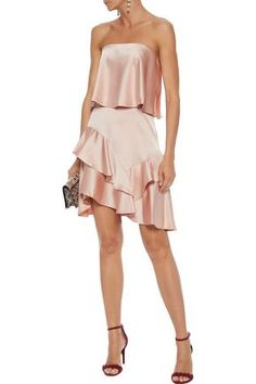 Halston Heritage   Sale up to 70% off   US   THE OUTNET Party Dress Sale, Party Dresses, Formal Dresses, Timeless Fashion, Luxury Fashion, Halston Heritage, Silk Satin, Silk Dress, Dresses For Sale