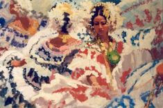 """Baile de Polleras"" by Al Sprague.  Part of the collection of Al Bonilla"