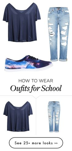 """School"" by bubbles-peach on Polyvore featuring Genetic Denim and Vans"