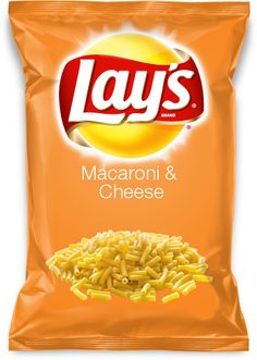 Would you eat Macaroni  Cheese flavored Lay's chips? Vote for me.