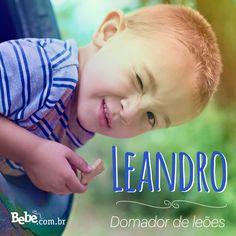 Quem aí também tem um #Leandro em casa ou na barriga? No nosso site, você confere mais curiosidades e a numerologia de Leandro (e de muitos outros nomes). #NomesSignificados #NomesdeBebês