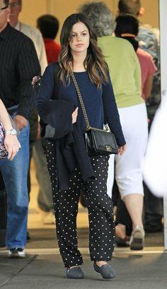 Rachel Bilson wearing Chanel Boy Chanel Bag.