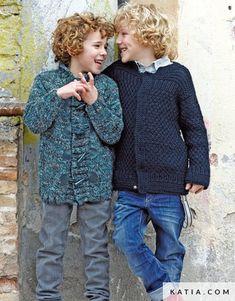 pattern knit crochet kids jacket autumn winter katia 6951 31 g Winter Kids, Summer Kids, Spring Summer, Fall Winter, Crochet For Kids, Knit Crochet, Sewing Essentials, Point Mousse, Hoodie Pattern