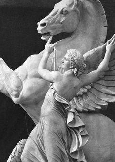 La Renommée retenant Pégase, Palais Garnier, Paris. Eugène Louis Lequesne