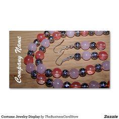 Costume Jewelry Display Standard Business Card