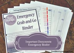 Important Documents Emergency Binder by Food Storage Moms