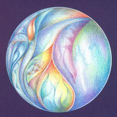 Intuïtieve kleurmandala