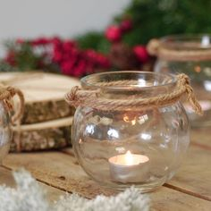 round glass candle holder rope handled lantern by made with love designs ltd…