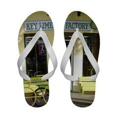 Key Lime Pie Flip Flops