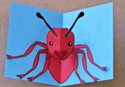 3D pop out ant craft  from www.daniellesplace.com