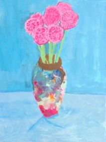 Student art replicas: Anteriums (David Hockney) by Grade 8