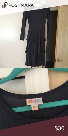 e8465173826a7 Lularoe Georgia Dress XXS NWOT lularoe Georgia Dress XXS Dark, rustic blue  Fits 00-