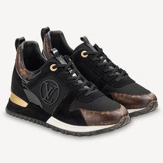 Louis Vuitton Trainers, Louis Vuitton Shoes, Zapatillas Louis Vuitton, Lv Sneakers, Sneakers Women, Sneakers Fashion, Baskets, Black Suede, Black Leather