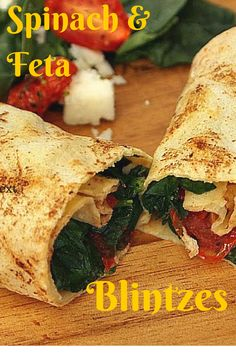 Spinach and Feta Blintzes and many other variations on blintzes