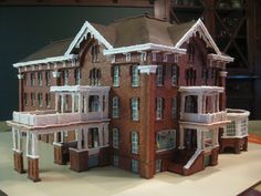 Amazing gingerbread replication of the Hotel  Harrington by Rebecca Weld