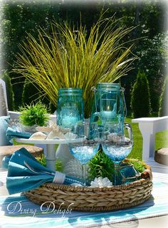 Dining Delight: Summer Display in a Tray