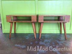 1940's Conant Ball end tables or night stands. Available now at Mid Mod Collective. Email midmodcollective@gmail.com for more info. SOLD!