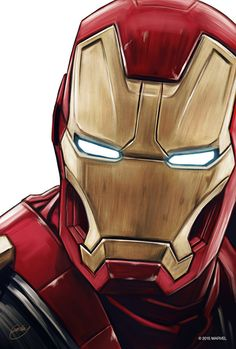 "Iron Man Portrait || Tony Stark || by Sam Gilbey || 676px x 1000px || #fanart || $40, 12"" x 18"""