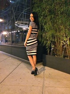Black and White Stripes http://www.laptopsandheels.com #bailey44 #blackandwhitestripes #blackandwhite #phillyblogger #mystyle #ootd