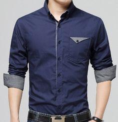 Mens Button Down Shirt with Flip Pocket – Men's style, accessories, mens fashion trends 2020 Mens Shirts Sale, Mens Designer Shirts, Men Shirts, Best Casual Shirts, Formal Shirts For Men, White Shirt Men, Camisa Polo, Plain Shirts, Latest Mens Fashion