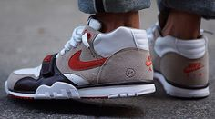 Another Look At The fragment design x Nike Court Air Trainer 1 Mid in Beige / White • KicksOnFire.com